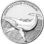 2016 Humpback Whale Silver Coin