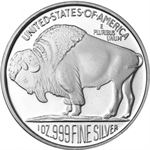 1 oz Silver Buffalo Stackable Round